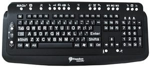 Low Vision Magnification Keyboard