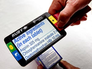 RUBY Handheld Portable Solutions with Power Supply by NY Low Vision
